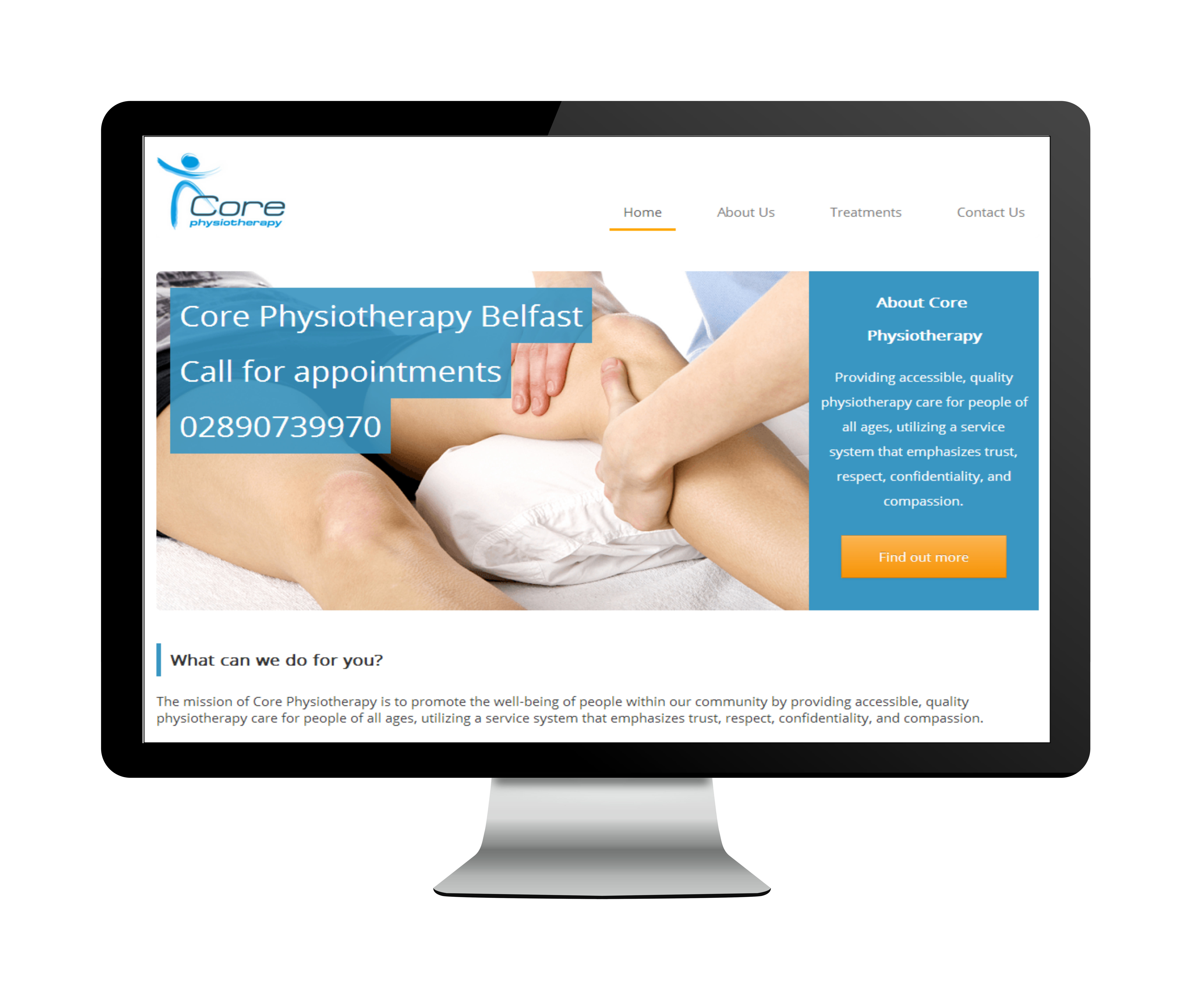 Core Physio Belfast Website Image